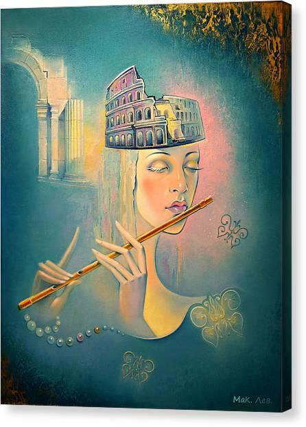 The Song Of The Forgotten Gods Canvas Print by Elena  Makarova-Levina