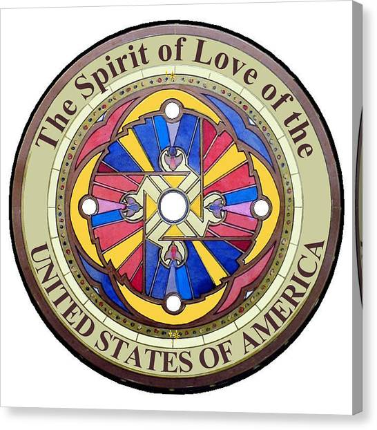 The Spirit Of Love Of The United States Of America Canvas Print