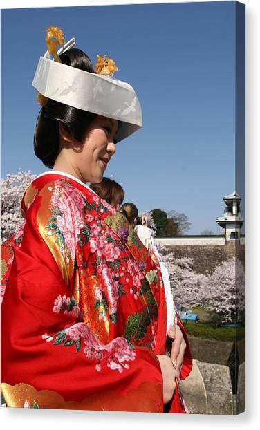 The Splendor Of A Kimono Canvas Print