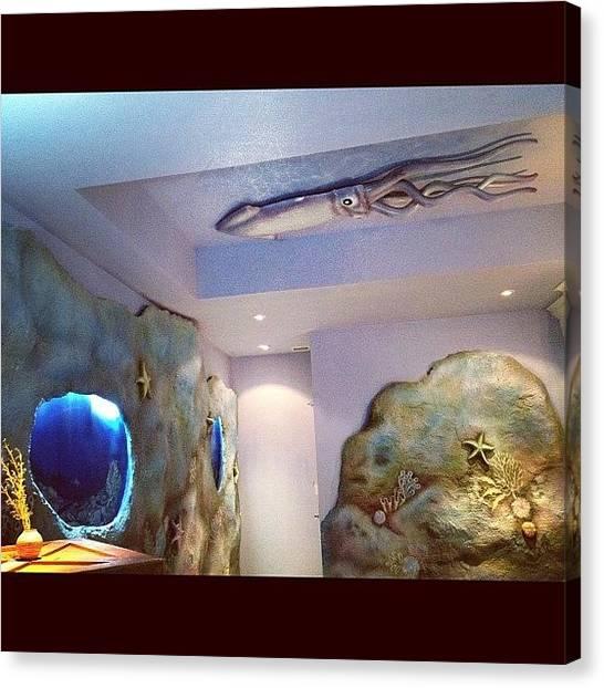 Underwater Canvas Print - The Squid Is Staring 😁 by Nancy Nancy