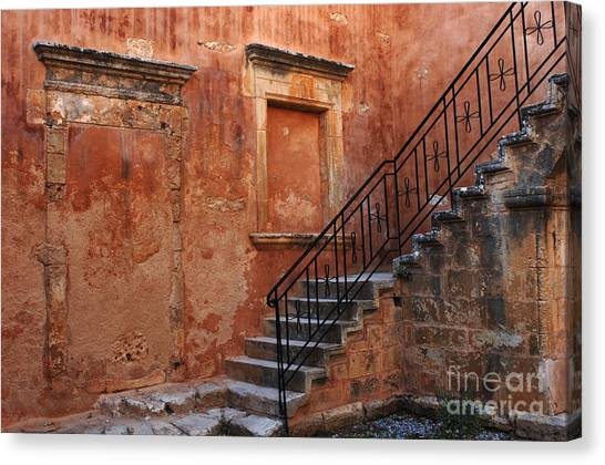 Bob Wall Canvas Print - The Stairway Crete by Bob Christopher