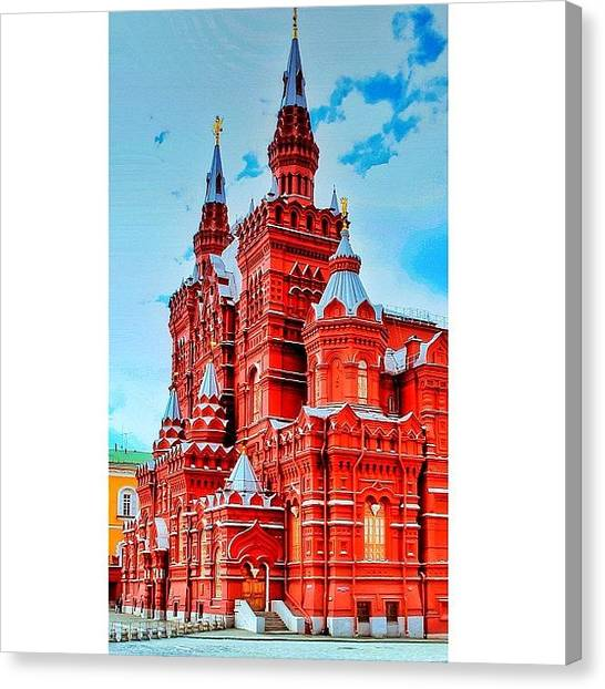Geometric Canvas Print - The State Historical Museum (russian: by Tommy Tjahjono