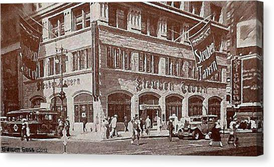 The Steuben Tavern In New York City C.1930's Canvas Print by Dwight Goss