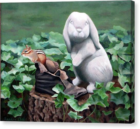 Canvas Print - The Stone Rabbit by Sandra Chase
