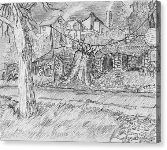 The Stump Canvas Print by Jonathan Armes