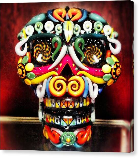 Skulls Canvas Print - The Sugar Skull by Travis  Dutra Magweedo