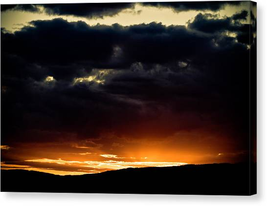 The Sun Beats Below Canvas Print