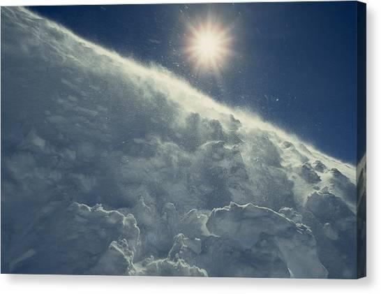 Antarctic Desert Canvas Print - The Sun Shines Brightly by Gordon Wiltsie