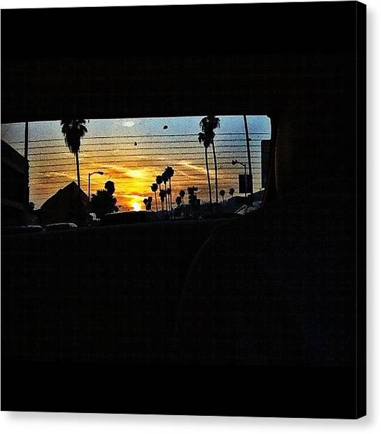 Driving Canvas Print - The Sunset Was So Cool Tonight But I by Loghan Call