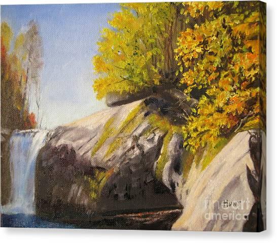 Appalachian State University Asu Canvas Print - The Swimming Hole by Shirley Braithwaite Hunt