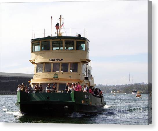 The Sydney Harbour Ferry Supply Canvas Print by Joanne Kocwin