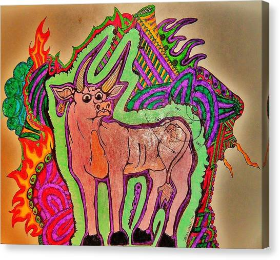 The Taurus Canvas Print by Ragdoll Washburn