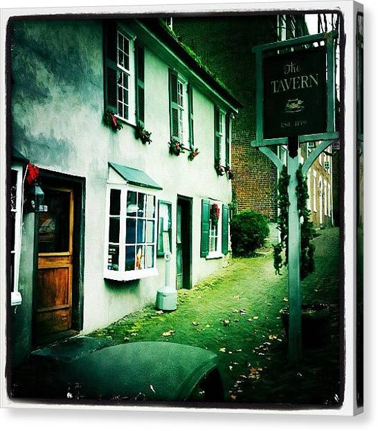 Virginia Canvas Print - The Tavern - A Very Charming Restaurant by James Heck