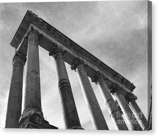 The Temple Of Saturn Canvas Print by Chris Hill