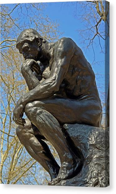 The Thinker By Rodin Canvas Print