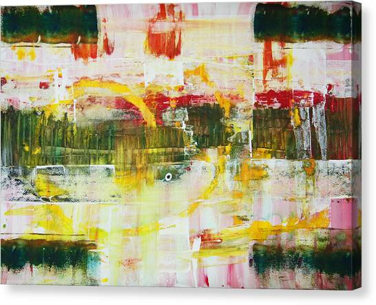 The Third Abstract Bank Of The River  Canvas Print by Dmitri Matkovsky