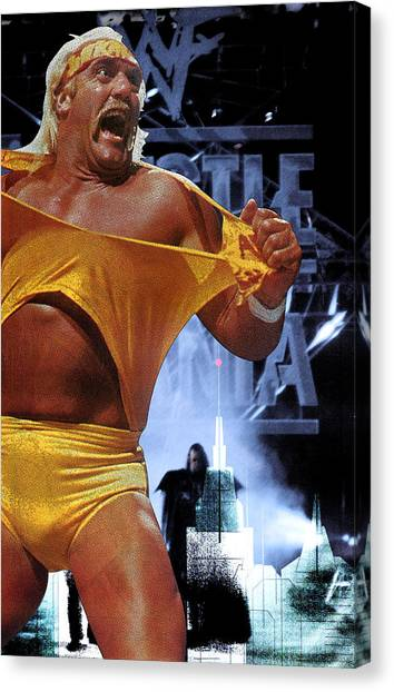 Hulk Hogan Canvas Print - The Thrill Of One Fight by Saad Hasnain