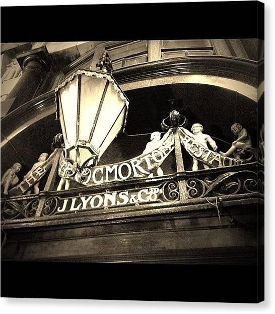 Victorian Canvas Print - The Throgmorton Restaurant J Lyons Co by Anne Marie
