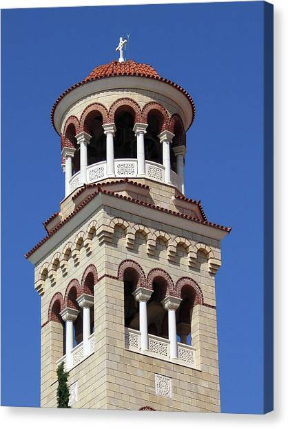 The Tower Of Saint Nectarios Canvas Print