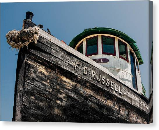 Leon Russell Canvas Print - The Tug F.d. Russell by Christopher Holmes