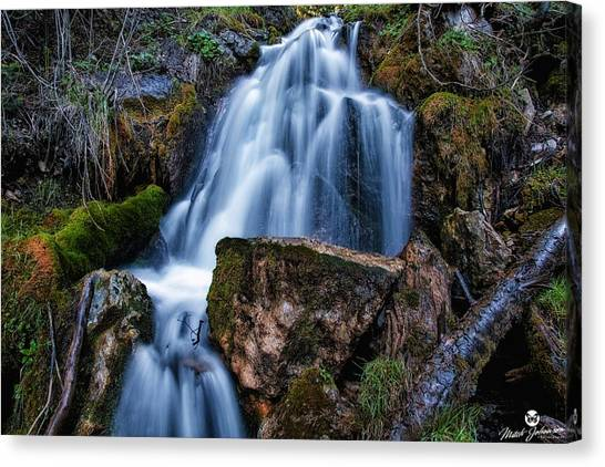 The Upper Butler Fork Falls Canvas Print by Mitch Johanson