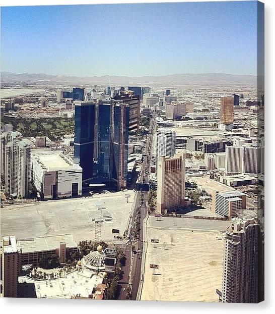 Paris Skyline Canvas Print - The Vegas Strip by Matt Goodall