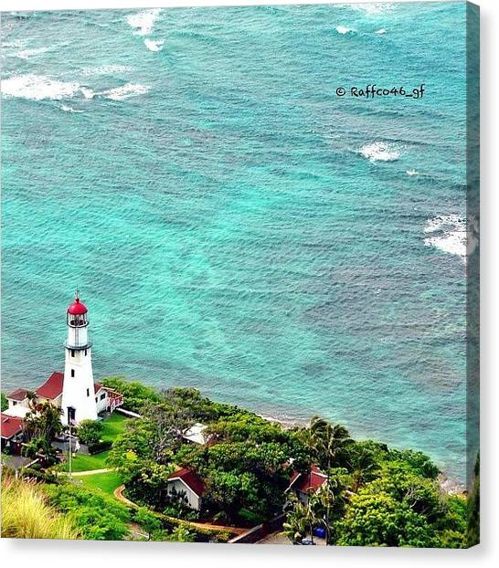 Lighthouses Canvas Print - The View From Diamond Head Of by Raffaele Salera