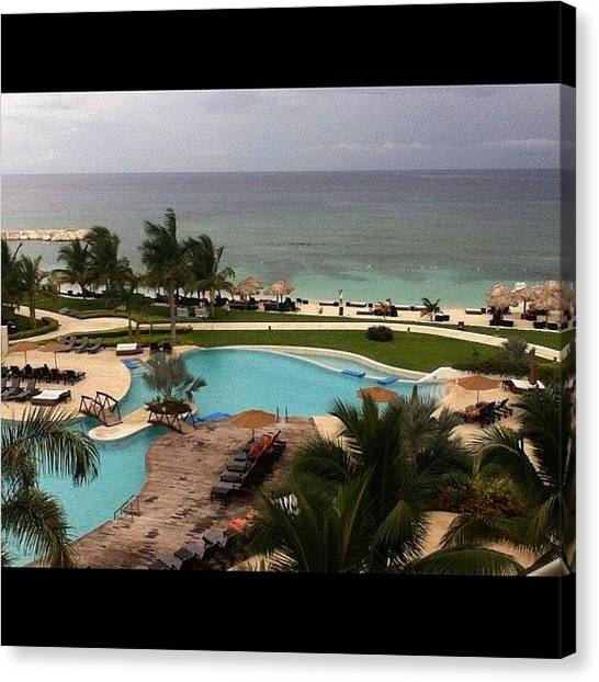 Jamaican Canvas Print - The #view From My #balcony Rite Now by Walik Goshorn