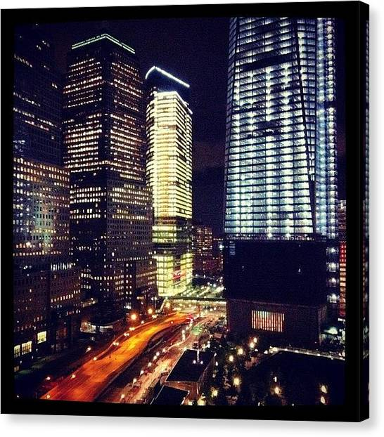 Hurricanes Canvas Print - The View From Our Hotel At Night by Hurricane Katrina