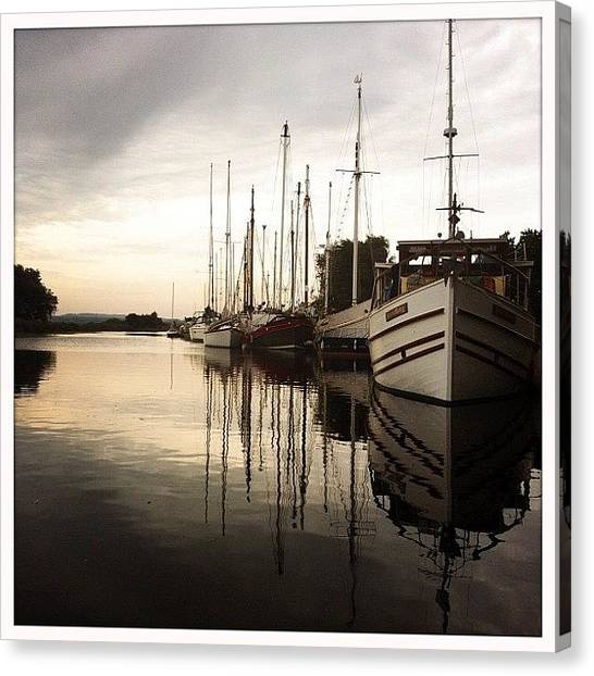 Pub Canvas Print - The View I Had As I Sipped On My Wine by Daniela Leach