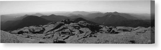The View North From Mt. Marcy Black And White Three Canvas Print