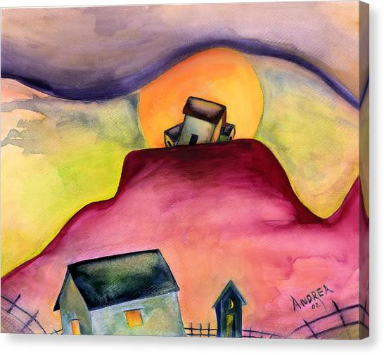The Village Canvas Print by Andrea Camp