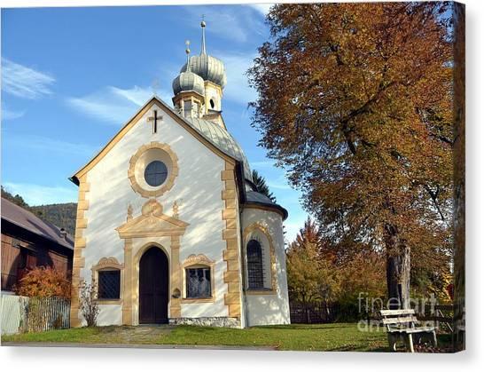 The Virgin Mary Church In Austria  Canvas Print