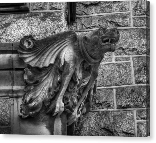The Watchful Gargoyle Canvas Print
