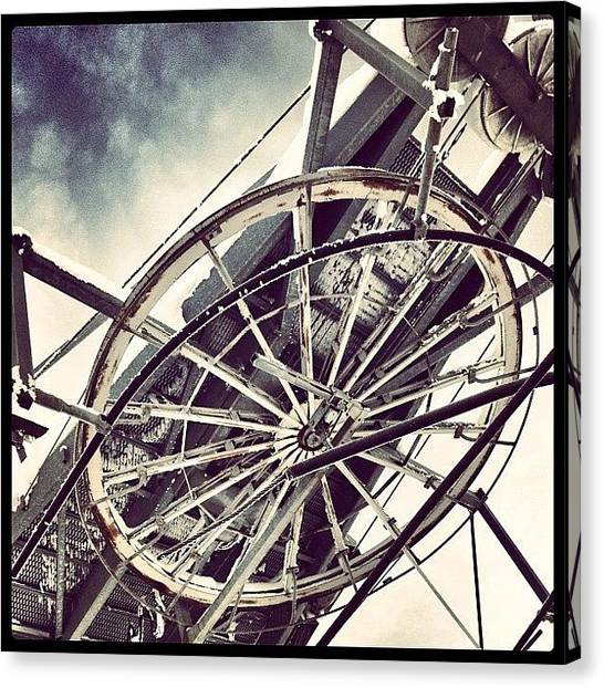 Metallic Canvas Print - The Wheel That Makes The World Go by Robert Campbell