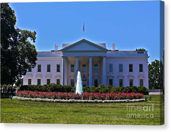 Obamacare Canvas Print - The White House - No. 0341  by Joe Finney