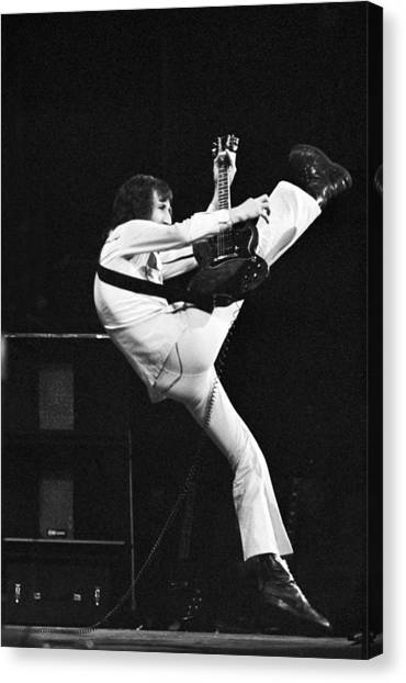 The Who's Pete Townshend 1972 Canvas Print
