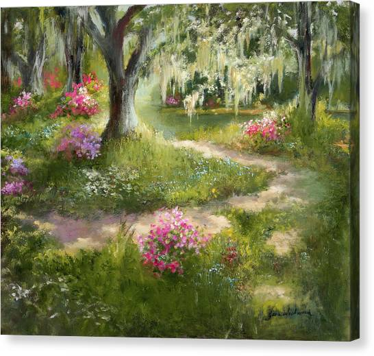 Canvas Print - The Winding Path In Spring by Jane Woodward