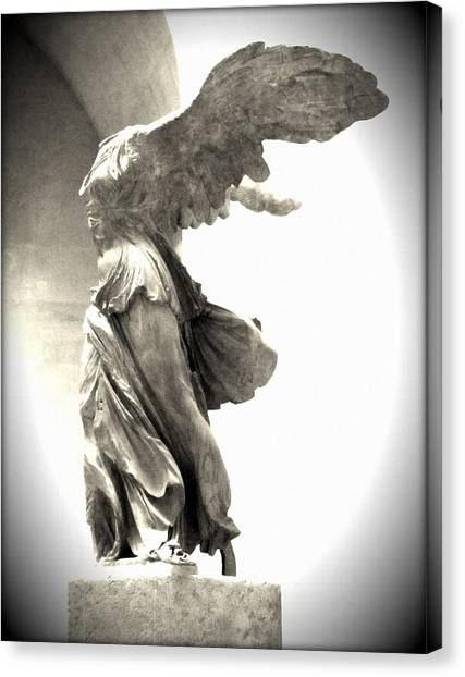 Featured Images Canvas Print - The Winged Victory - Paris Louvre by Marianna Mills