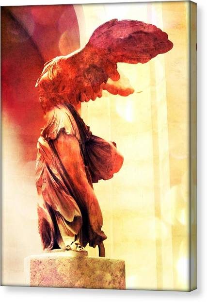 The Louvre Canvas Print - The Winged Victory  by Marianna Mills