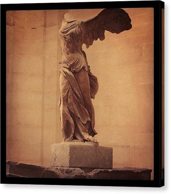 Greek Canvas Print - The Winged Victory Of Samothrace by Denise Noble
