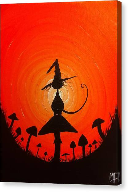 The Witches Hat Canvas Print by Michael Prosper
