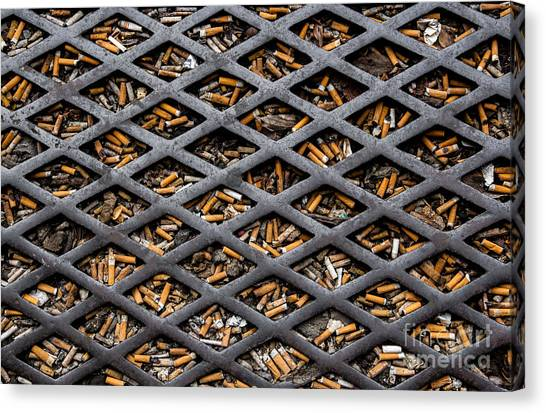 The World Becomes Your Ashtray Canvas Print