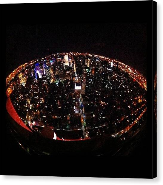 Hurricanes Canvas Print - The World On A Plate…or At Least Nyc by Hurricane Katrina
