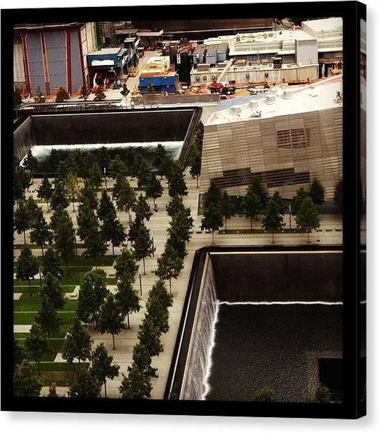 Hurricanes Canvas Print - The World Trade Center Memorial Site As by Hurricane Katrina