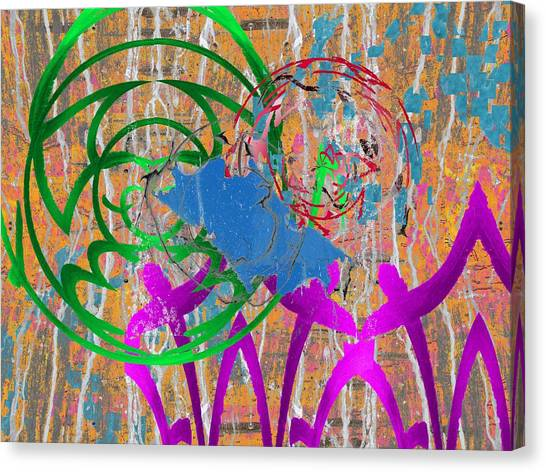 Graffiti Walls Canvas Print - The Writing On The Wall 22 by Tim Allen