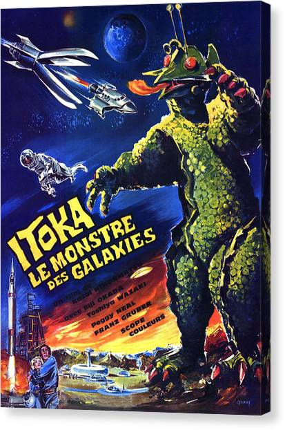Foreign Ad Art Canvas Print - The X From Outer Space, Aka Uchu by Everett