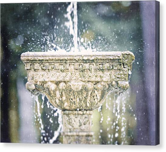The Yaddo Fountain Canvas Print by Lisa Russo