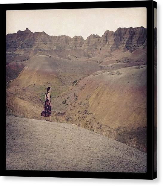 Surrealism Canvas Print - The Yellow Mounds by Cody Proctor