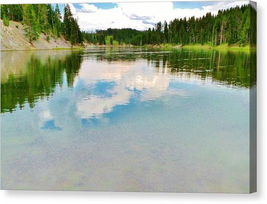 The Yellowstone Canvas Print by Virginia Lei Jimenez